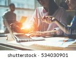 team working on a project in... | Shutterstock . vector #534030901