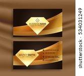 premium business card template... | Shutterstock .eps vector #534031249