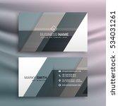 modern business card template...   Shutterstock .eps vector #534031261
