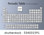 periodic table of elements.the... | Shutterstock .eps vector #534031591