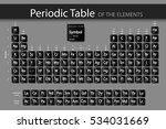 periodic table of elements.the... | Shutterstock .eps vector #534031669