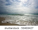 Golden Shore Hit By Surf On...