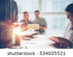 business team brainstorming.... | Shutterstock . vector #534035521