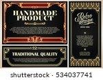 vintage frame design for labels ... | Shutterstock .eps vector #534037741