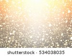 golden circle bokeh or round... | Shutterstock . vector #534038035