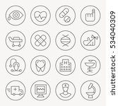 medical thin line icon set | Shutterstock .eps vector #534040309