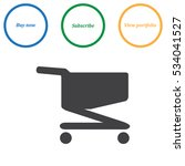 cart icon vector flat design...