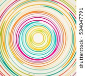 round abstract curved stripe...   Shutterstock .eps vector #534047791