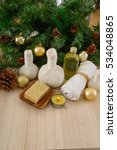 christmas decorations with spa... | Shutterstock . vector #534048865
