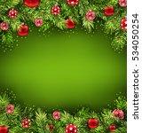 illustration christmas banner...   Shutterstock . vector #534050254