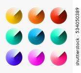 set of gradient pattern... | Shutterstock .eps vector #534050389