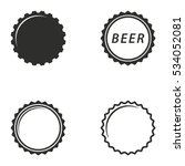 bottle cap vector icons set.... | Shutterstock .eps vector #534052081