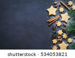christmas or new year... | Shutterstock . vector #534053821
