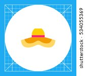 woman summer hat icon | Shutterstock .eps vector #534055369