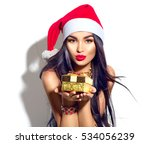 beauty christmas fashion model... | Shutterstock . vector #534056239