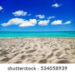 beautiful beach and tropical sea | Shutterstock . vector #534058939