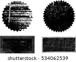 grunge post stamps collection ... | Shutterstock .eps vector #534062539