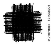 distress black crayon texture.... | Shutterstock .eps vector #534065005