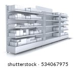 store shelves with empty... | Shutterstock . vector #534067975