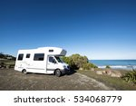 camping car and kakanui south... | Shutterstock . vector #534068779