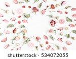 Romantic Flowers. Frame Made O...