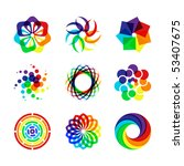 rainbow symbols | Shutterstock .eps vector #53407675