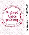 valentine's day quote. romantic ... | Shutterstock .eps vector #534079615