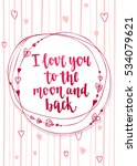 valentine's day quote. romantic ... | Shutterstock .eps vector #534079621