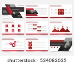red abstract presentation... | Shutterstock .eps vector #534083035