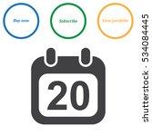 calendar icon vector flat... | Shutterstock .eps vector #534084445