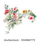watercolor painting of leaves... | Shutterstock . vector #534084775