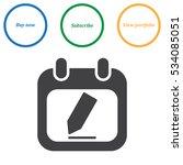 calendar icon vector flat... | Shutterstock .eps vector #534085051