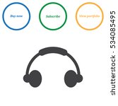headphone icon vector flat...