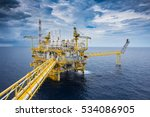 offshore oil and gas processing ... | Shutterstock . vector #534086905