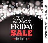 black friday sale inscription... | Shutterstock . vector #534087685