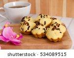 Small photo of Kue Cubit, Indonesian Cake, chocolate pancake Indonesian on bright background