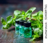 essential oil of peppermint in... | Shutterstock . vector #534089761