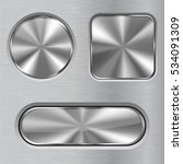metal buttons. round  square... | Shutterstock .eps vector #534091309