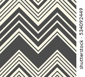 seamless monochrome zigzag... | Shutterstock .eps vector #534092449