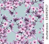 background branch with pink... | Shutterstock . vector #534092917
