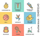 modern icons set of fitness ... | Shutterstock .eps vector #534093145