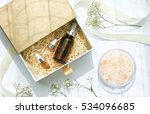 cosmetic brown bottle... | Shutterstock . vector #534096685