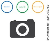 camera icon vector flat design...