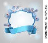 christmas frame background | Shutterstock .eps vector #534098551