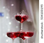 smoke and red wine in asia  ...   Shutterstock . vector #534103195