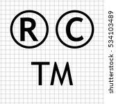 copyright   trademarks   ... | Shutterstock .eps vector #534103489