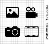 video  icon vector set | Shutterstock .eps vector #534103561