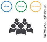 people icon vector flat design... | Shutterstock .eps vector #534104881