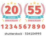 anniversary emblem with ribbon  ... | Shutterstock .eps vector #534104995