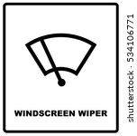 car icon wiper. vector... | Shutterstock .eps vector #534106771